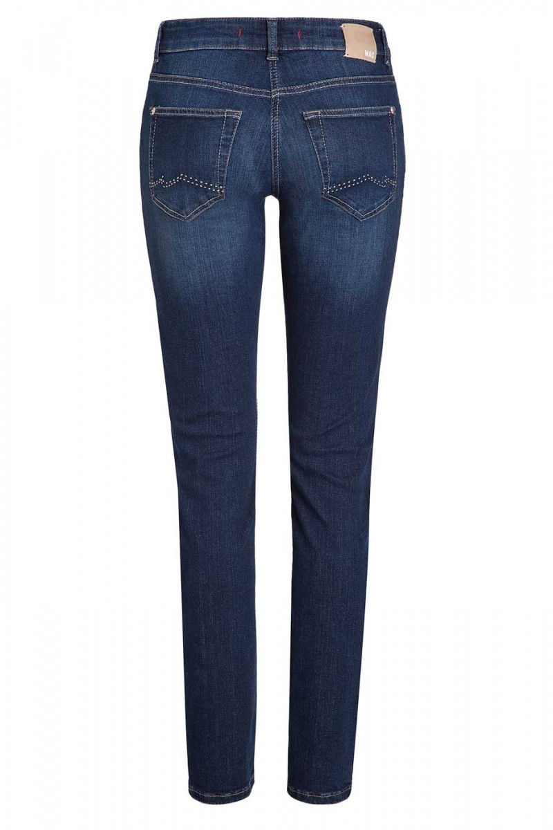Mac Carrie Pipe Jeans - Perfekt Fit Forever - New Basic Wash