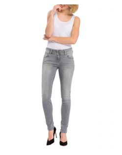Cross Melinda – Graue Jeans mit Löchern und High Waist