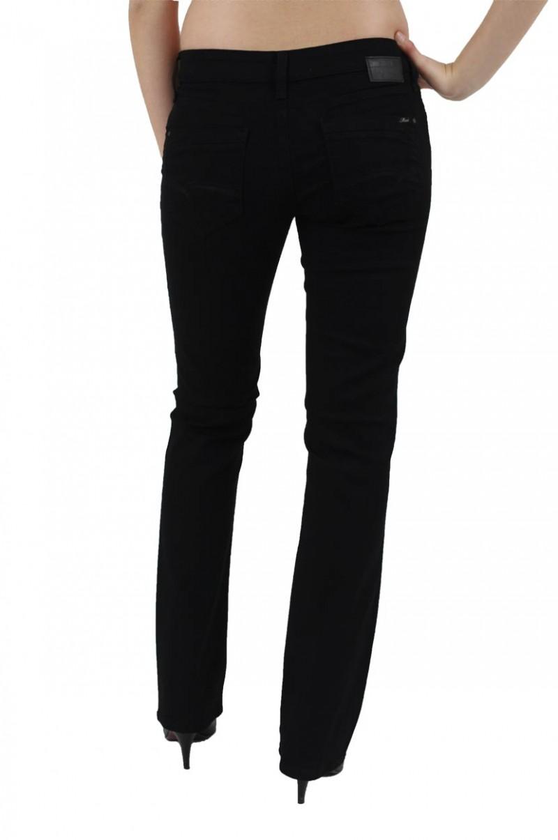 Mavi Mona Jeans - Straight Leg - Black Milan Str. v