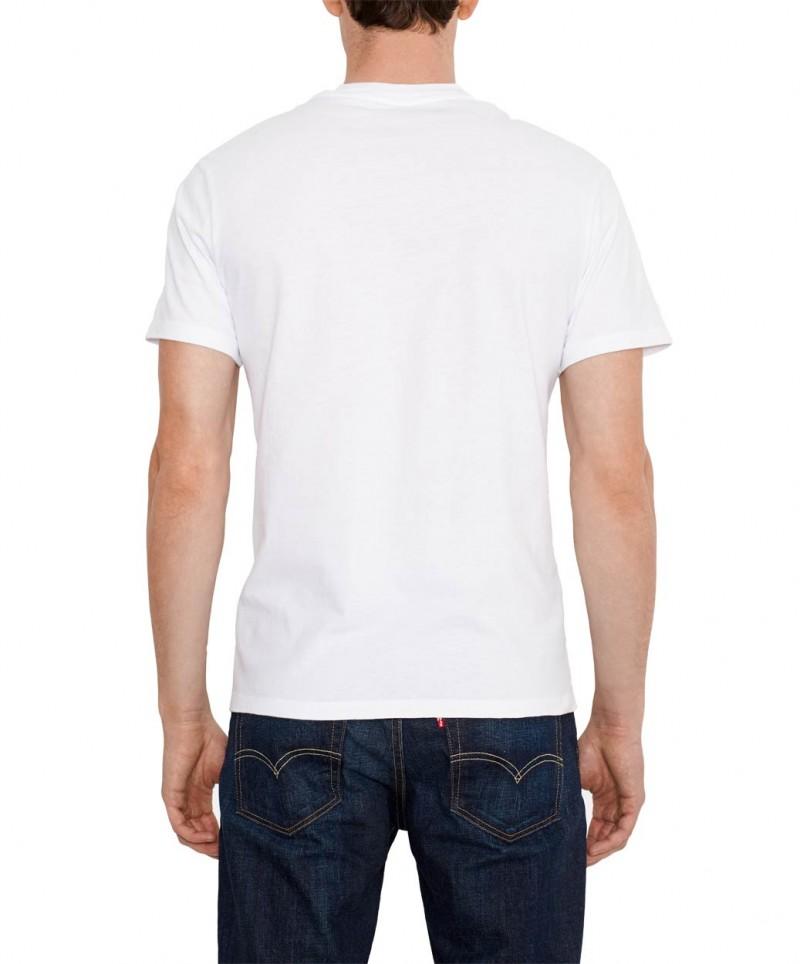 Levis T-Shirt - Graphic Crew - White v