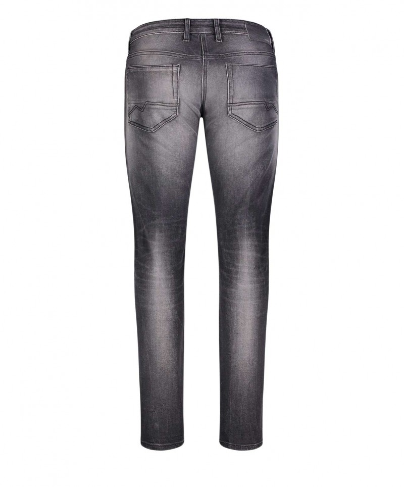 MAC Arne Pipe Jeans - Flexx Denim - Light Grey Authentic Used 3D