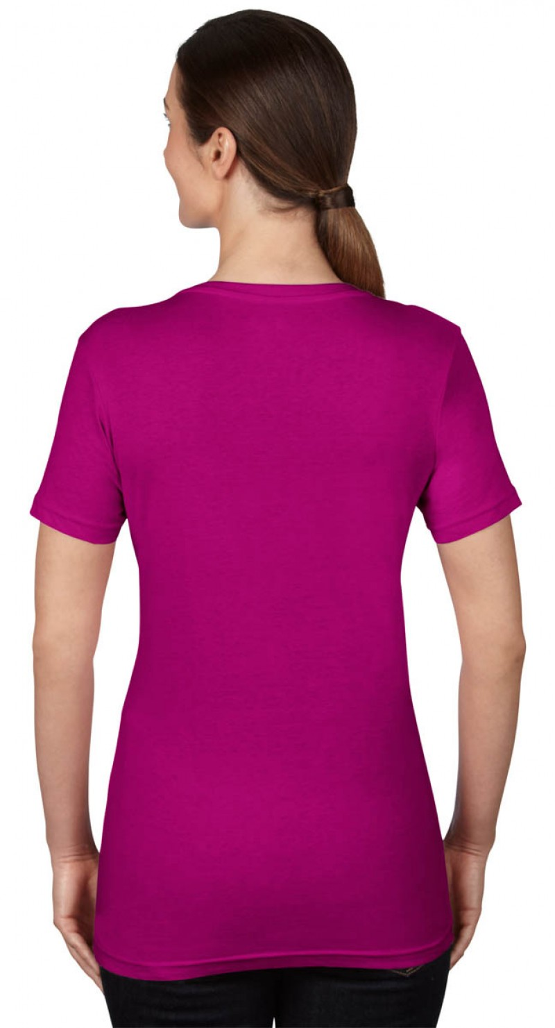 Anvil T-Shirts - Sheer V-Ausschnitt  - Raspberry v
