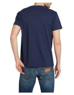 WRANGLER T-Shirt - Logo Tee - Navy - Hinten