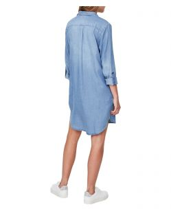 VERO MODA Silla - Shirt-Kleid - Light Blue Denim - Hinten
