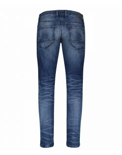 MAC Arne Pipe Jeans - Flexx Denim - Dark Blue Heavy Used - Hinten