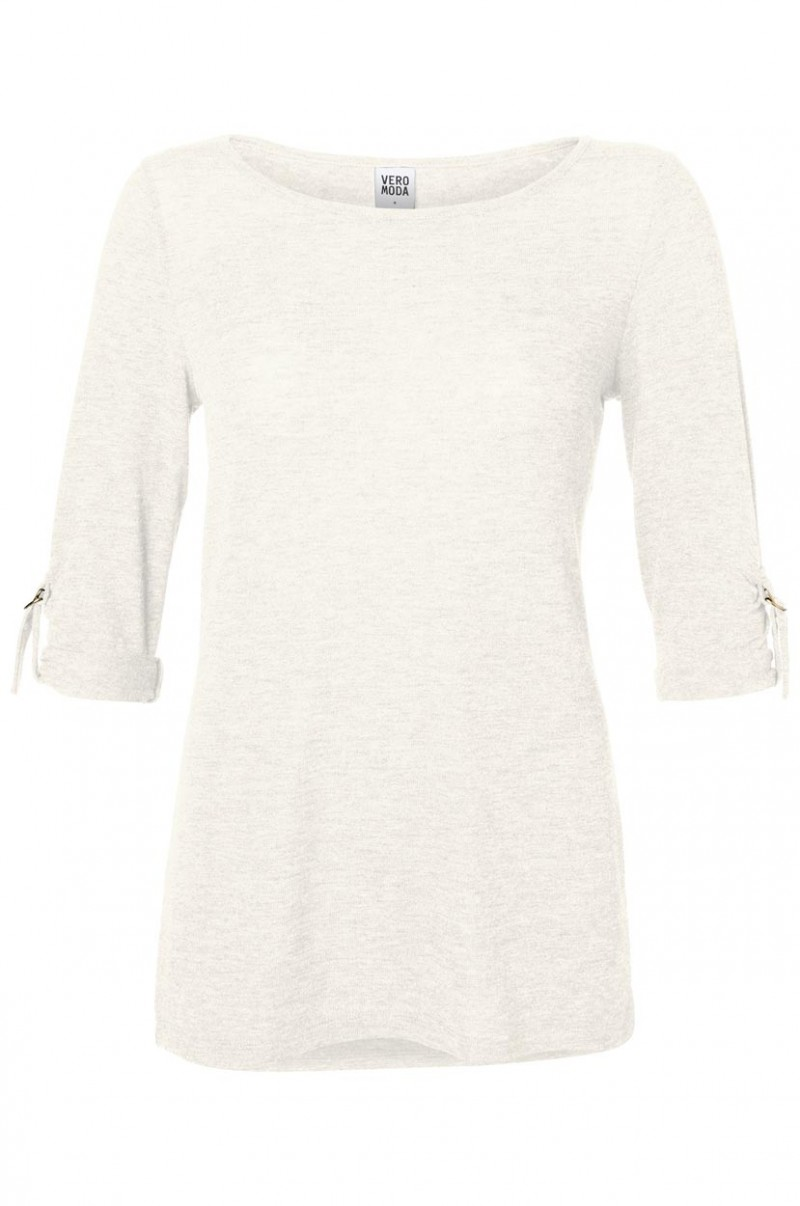 Vero Moda Shirt - Burcu Essie Turn-Up - Snow White
