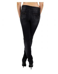 Angels Cici Jeans - Sweat Denim - Black Used hinten