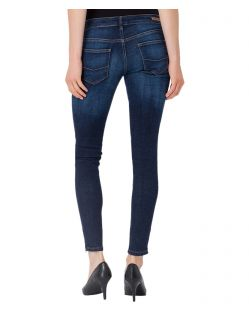 Cross Jeans Giselle - Ankle Jeans in Ocean Blau mit Zipper - B02