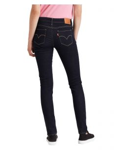 Levi's 711 - Enge Jeans mit mittelhohem Bund in Rinsewash f02