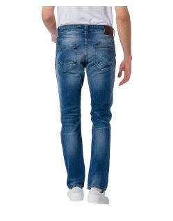 CROSS Jeans Dylan - Straight Leg - Medium Blue - Hinten