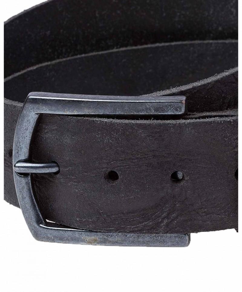 Cross Jeans Gürtel - Strukturleder - Schwarz