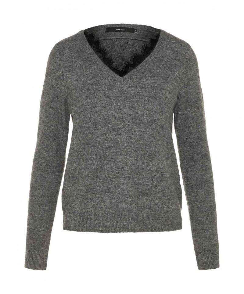 Vero Moda IVA - Pullover mit V Ausschnitt in Strick für 24,95 ... b7db9b50a3