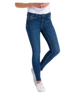 Cross Jeans Giselle - Ankle Jeans mit Zipper in Dark Blue