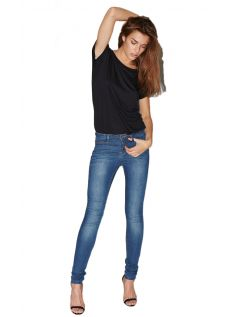 VERO MODA WONDER - Denim Jegging - Med Indigo Wash