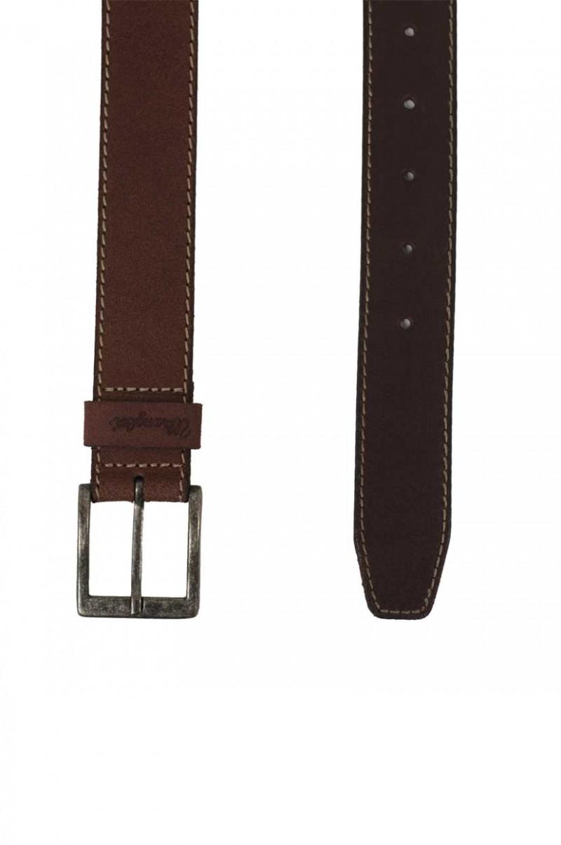 Wrangler Gürtel Basic Stitched Belt Cognac