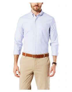 Dockers - Elastisches Oxford-Hemd in Blau mit Streifen