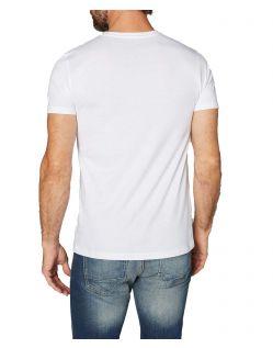 Colorado Denim Don - weißes T-shirt mit V-Ausschnitt im 2-Pack - Hinten