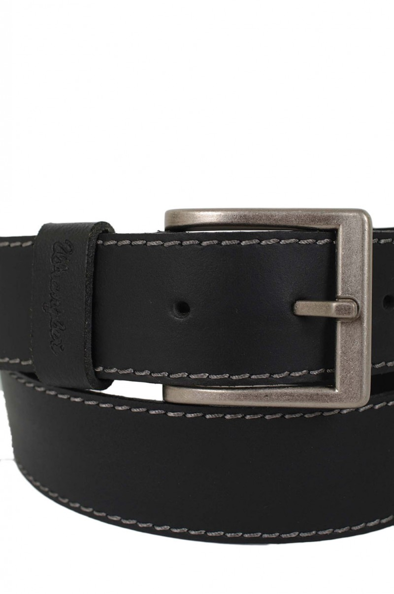 Wrangler Gürtel Basic Stitched Belt in Black
