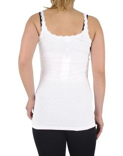 Vero Moda SMILE LACE TANK TOP weiß