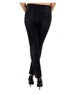 Angels Skinny Jeans - Sweat Denim - Black Used  - Hinten