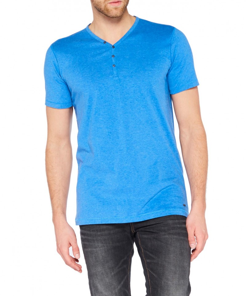 Colorado Wassily - V-Neck T-Shirt - Strong Blue Mel