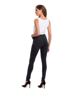 Cross Jeans Natalia - High Waisted Skinny Jeans in dunkelgrau