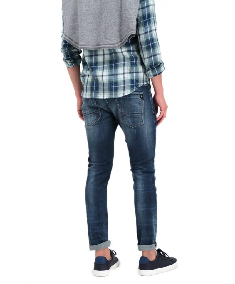 Garcia Russo - Enge Jeans in dunkelblauer Vintage-Waschung