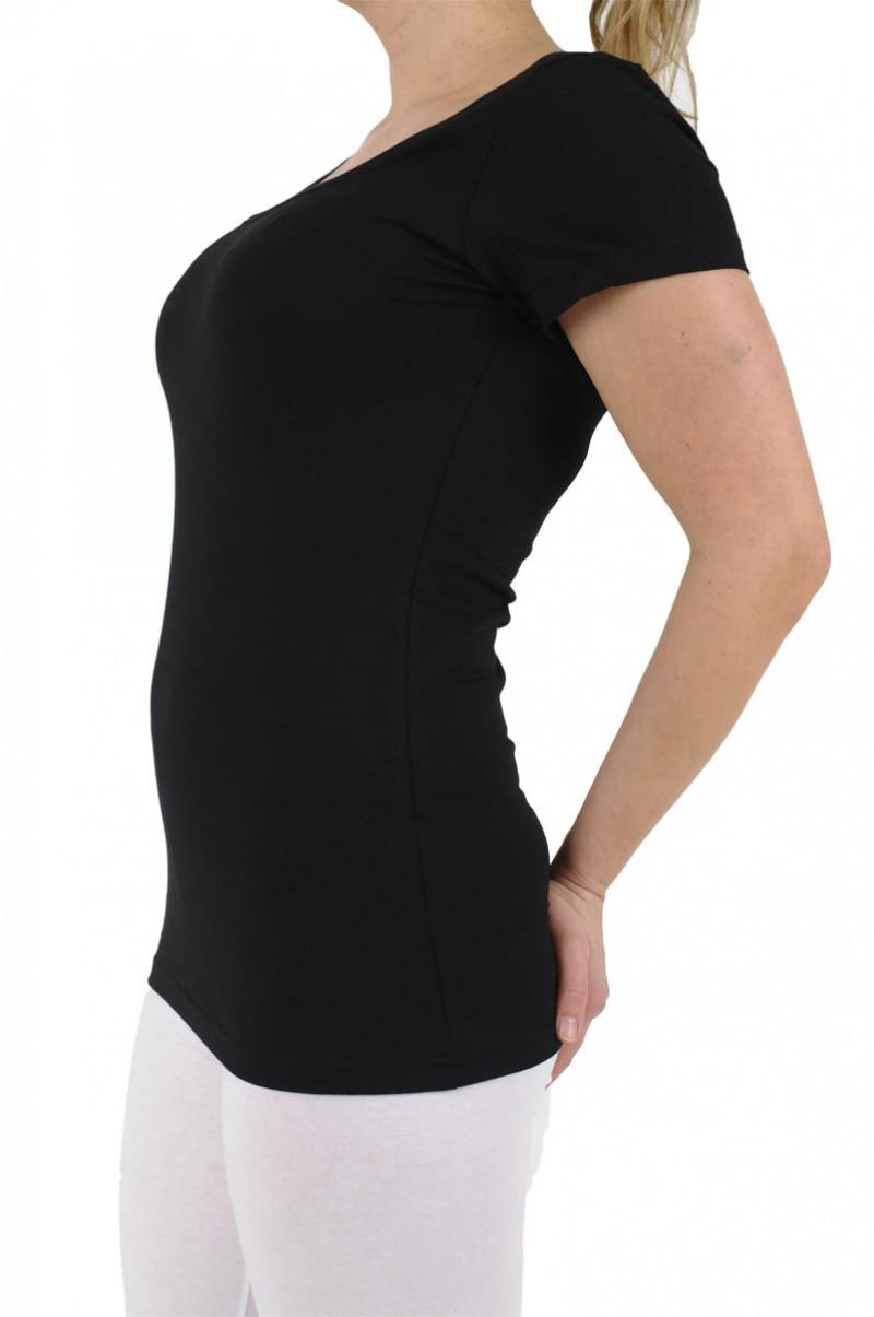 Vero Moda - T-Shirt U-Neck - schwarz