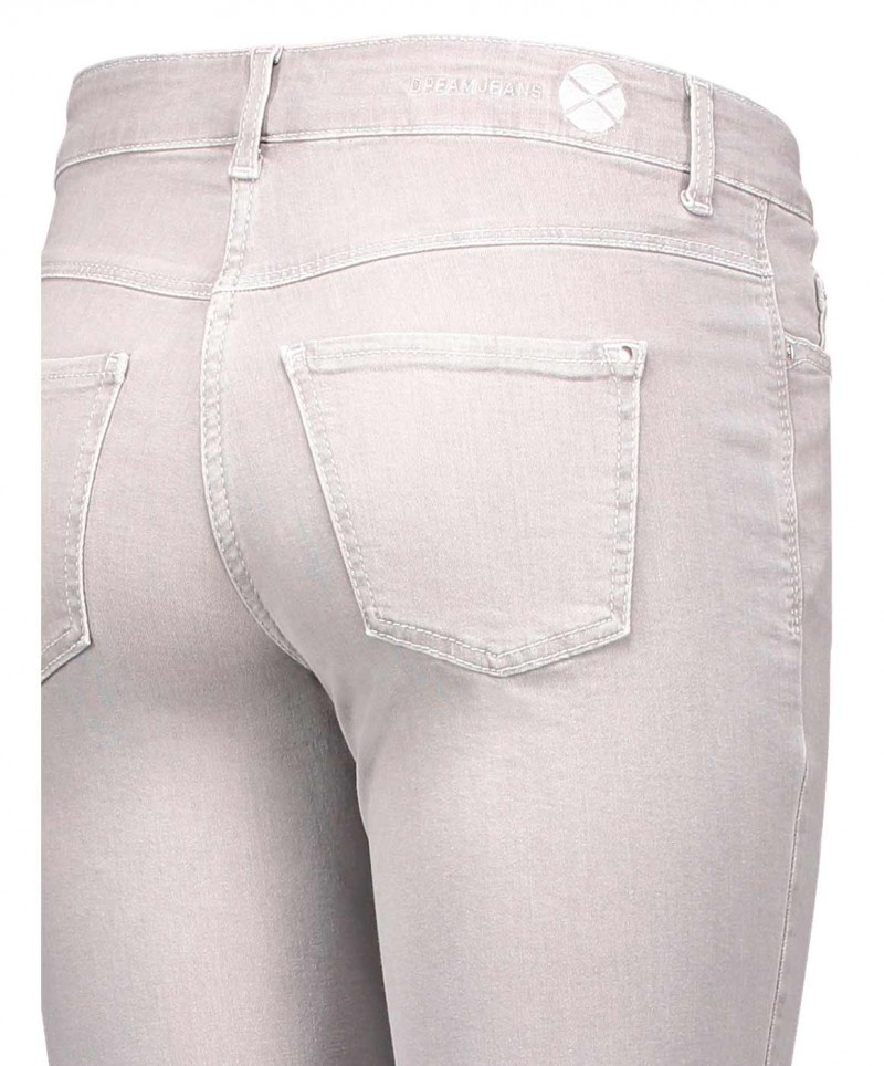 MAC DREAM - Jeans Straight Leg - Silver Grey