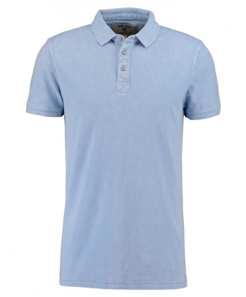 Garcia Pietro - hellblaues Polo-T-Shirt mit gesticktem Logo