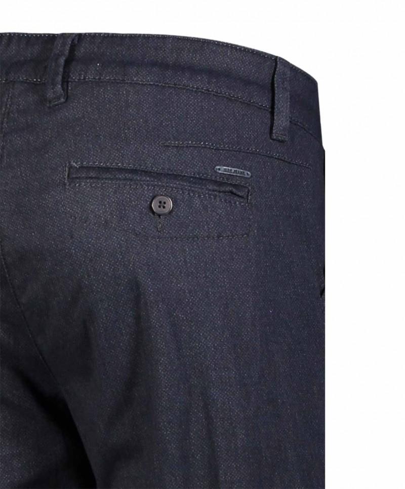 Mac Lennox - dunkelblaue Chinohose mit schmalem Bein
