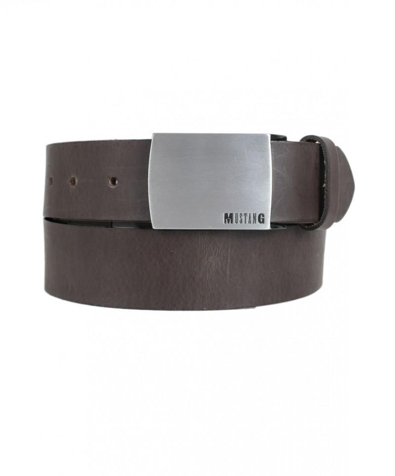 Mustang Gürtel - Label Pinschließe - Dunkel Braun