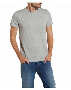 Wrangler - Graues Baumwoll T-Shirts im Zweierpack