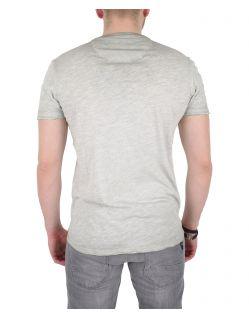 GARCIA MARCO - V-Neck T-Shirt - Grau - Hinten