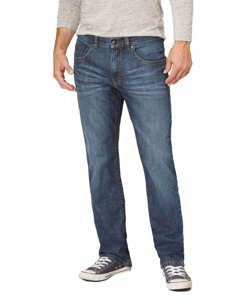 Paddocks Carter Jeans - Blue Dark Stone Used Moustache v