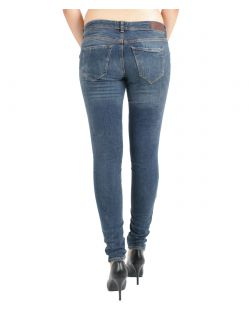 VERO MODA FIVE - Super Skinny Fit - Dark Blue Denim - Hinten