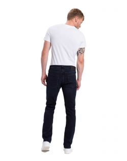 Cross Jeans Damien - Slim Jeans in Blue Black Waschung - B02