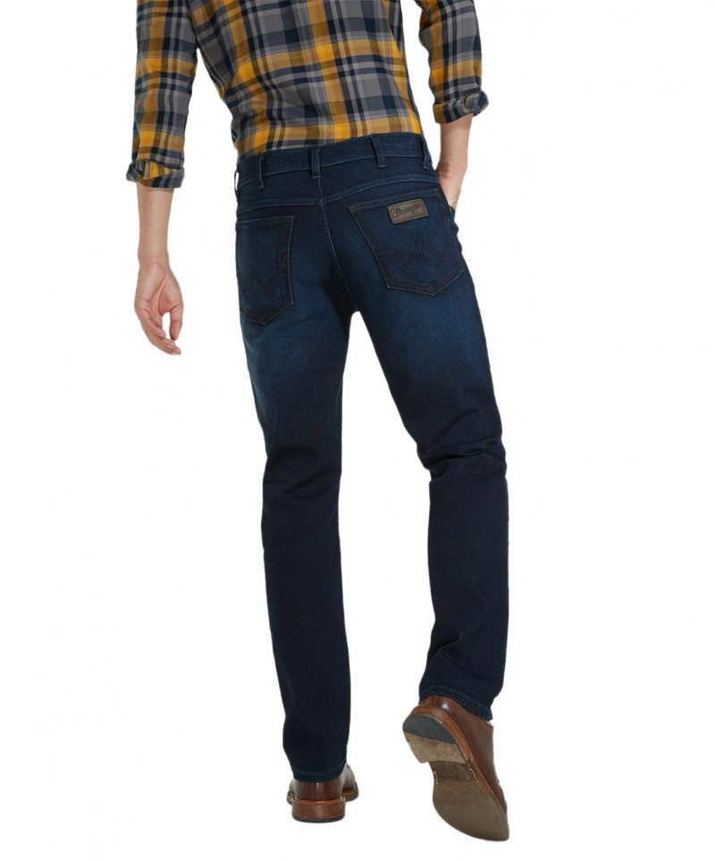 Wrangler Texas Stretch Jeans in coolem Dunkelblau f01