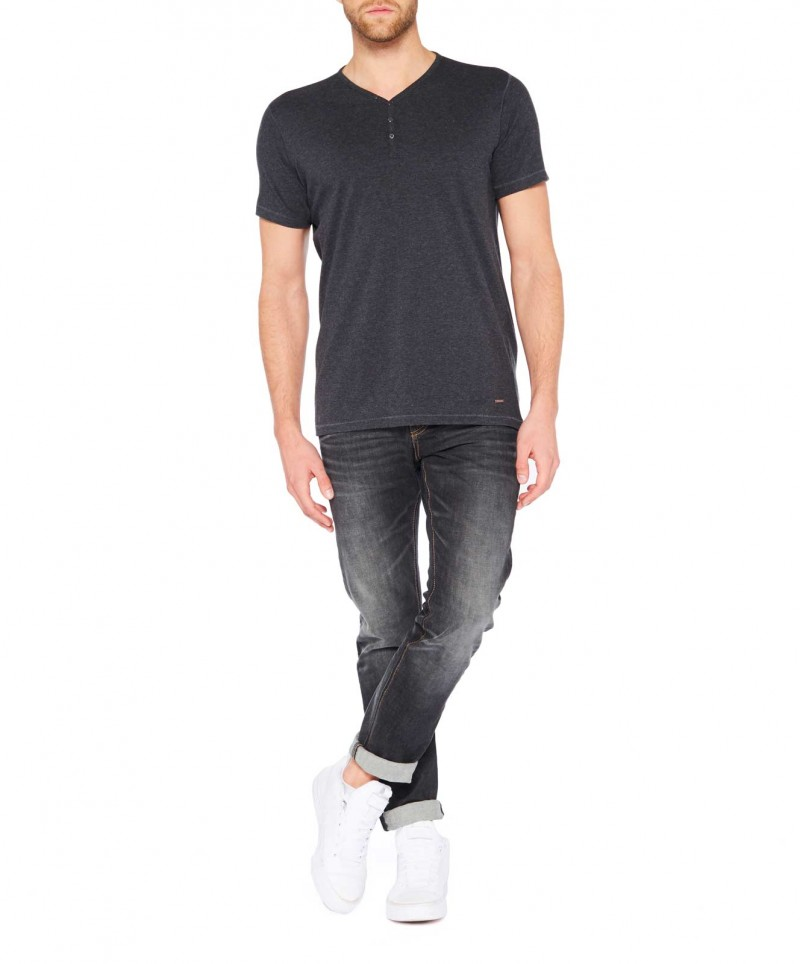 Colorado Wassily - V-Neck T-Shirt - Anthra Mel