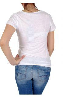 Garcia Lucia - T-Shirt - Loose Fit - U-Ausschnitt - Weiss - Hinten