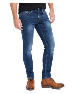 Mustang Herren Jeans Oregon Tapered Fit in Blue Dark