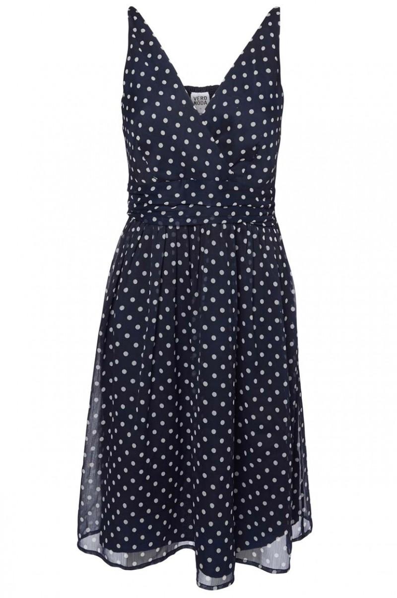 Vero Moda Kleid - Josephine - Black Iris White
