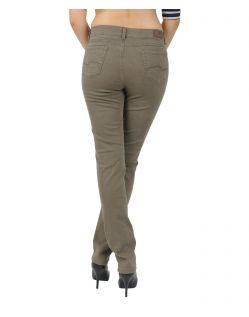 Angels Cici - Hinten - Straight Jeans in hellem Khaki