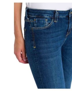 Cross Jeans Giselle – Ankle Jeans mit Zipper in Dark Blue - B02