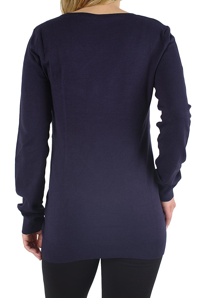 Vero Moda Glory long v-neck Pullover dark navy