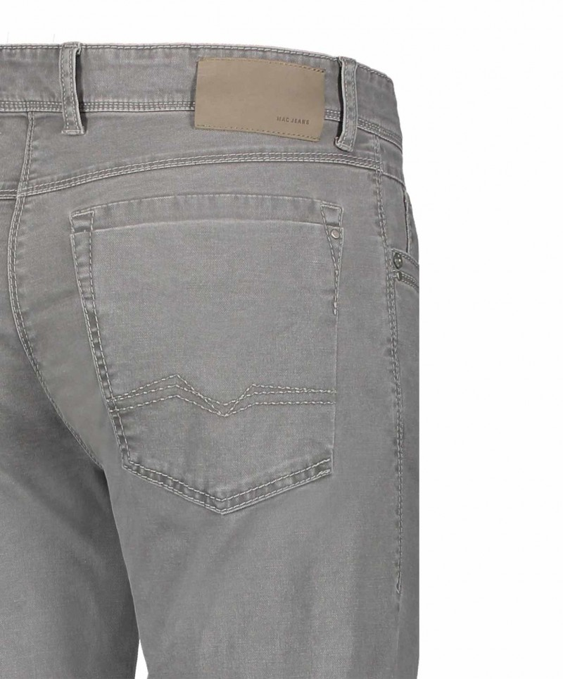 Sommerliche MAC ARNE Hose - Broken Twill - Granite