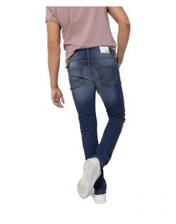 HIS CLIFF - Slim Fit Jeans - Pure Medium Blue Wash - Hinten