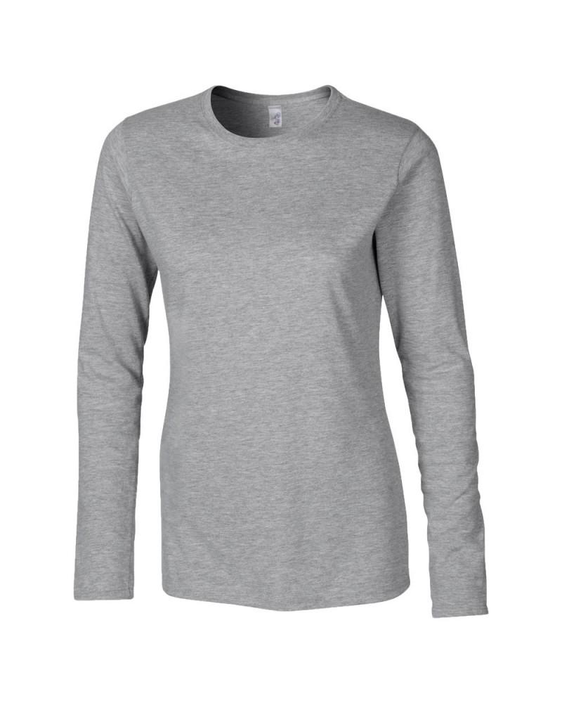 Gildan Langarmshirt - Softstyle - Sport Grey v