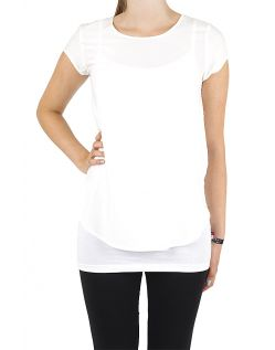 Vero Moda BOCA SS Top - Bluse - Snow White