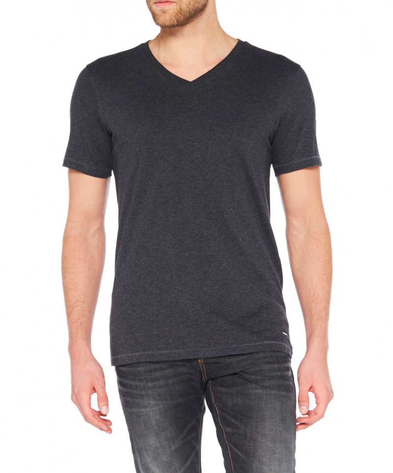 Colorado Joaquim - V-Neck T-Shirt - Anthra Mel